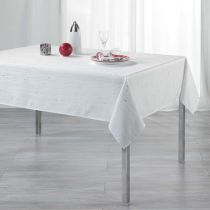"Nappe Rectangulaire ""Filiane"" 140x240cm Blanc"