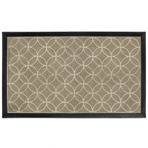 "Tapis d'Entrée Rectangle ""Emilio"" 45x75cm Naturel"