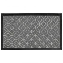 "Tapis d'Entrée Rectangle ""Emilio"" 45x75cm Gris"