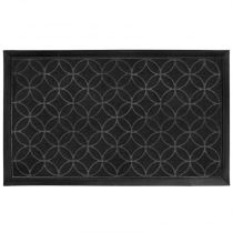 "Tapis d'Entrée Rectangle ""Emilio"" 45x75cm Noir"