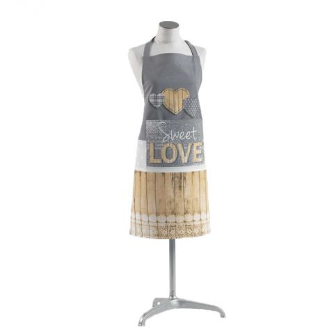 "Tablier de Cuisine ""Hearty"" 84cm Gris"