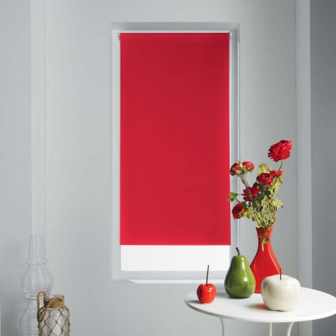 "Store Enrouleur Occultant ""Occult"" 60x180cm Rouge"