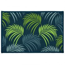 "Tapis Rectangle ""Blue Vegetal"" 40x60cm Vert"
