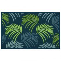 "Tapis Rectangle ""Blue Vegetal"" 50x80cm Vert"