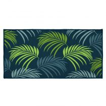 "Tapis Rectangle ""Blue Vegetal"" 57x115cm Vert"