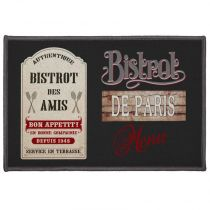 "Tapis Rectangle ""Bistrot Des Amis"" 40x60cm Noir"