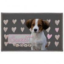 "Tapis Rectangle ""Love Doggy"" 50x80cm Gris"