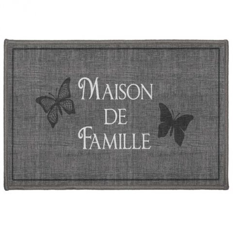"Tapis Rectangle ""Familia"" 40x60cm Gris"
