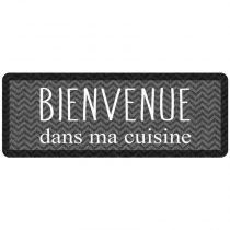 "Tapis de Cuisine ""Kitchen Black"" 45x120cm Noir"