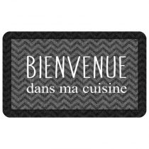 "Tapis de Cuisine ""Kitchen Black"" 45x75cm Noir"