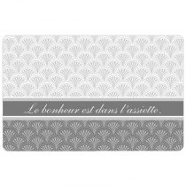 "Set de Table ""Chic Assiette"" 28x44cm Gris"