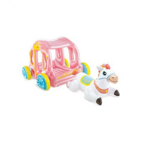 "Carrosse & Cheval Gonflable ""Cabane"" 124cm Multicolore"