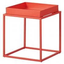"Table d'Appoint Design en Métal ""Eza"" 40cm Orange"