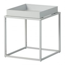 "Table d'Appoint Design ""Eza"" 40cm Gris"