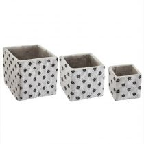 "Lot de 3 Cache-Pots Ciment ""Collect"" 14cm Gris"