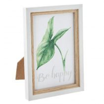 "Cadre Photo en Bois ""Jungle"" 15cm Blanc"