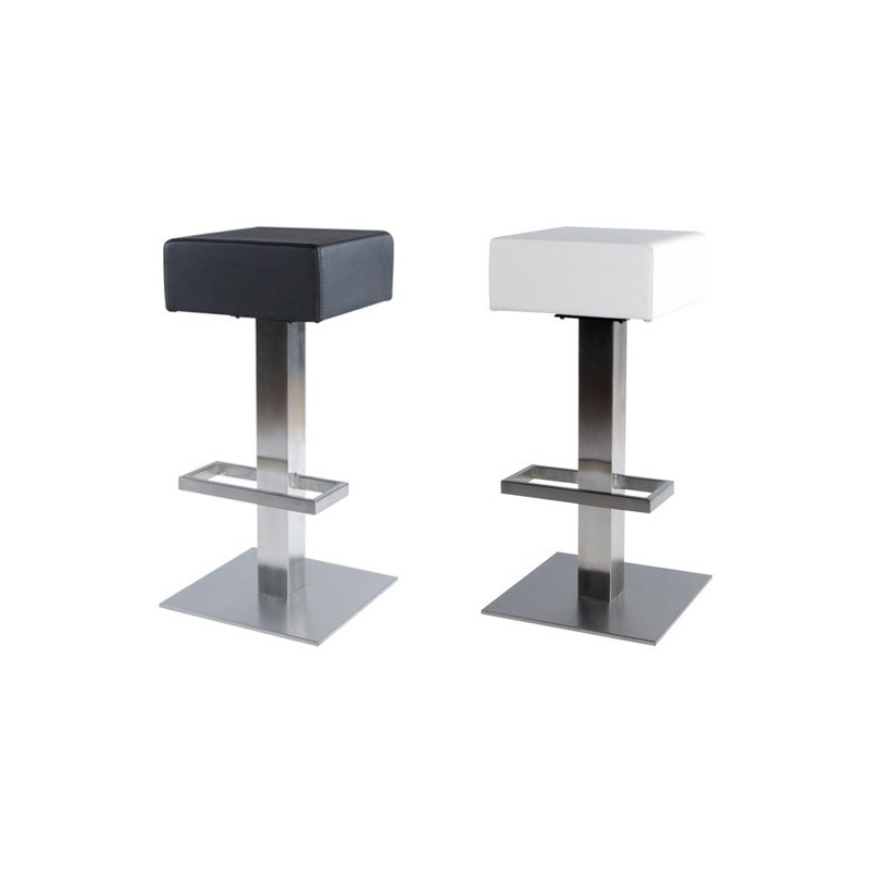 tabouret de bar kube blanc. Black Bedroom Furniture Sets. Home Design Ideas