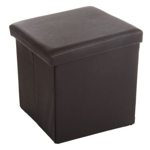 "Pouf PVC Carré ""Lounge"" Marron"