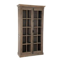"Vitrine en Bois 2 Portes ""Display"" 195cm Naturel"