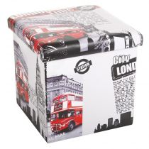 "Pouf PVC ""London"" Rouge"
