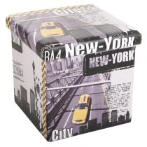 "Pouf PVC ""New York"" Jaune"