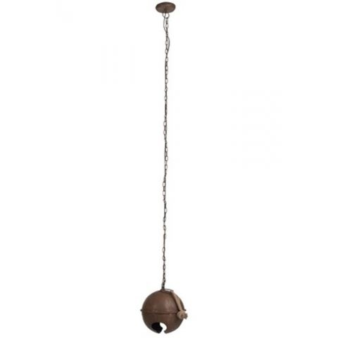 "Lampe Suspension Effet Rouillé ""Cloche"" 192cm Marron"