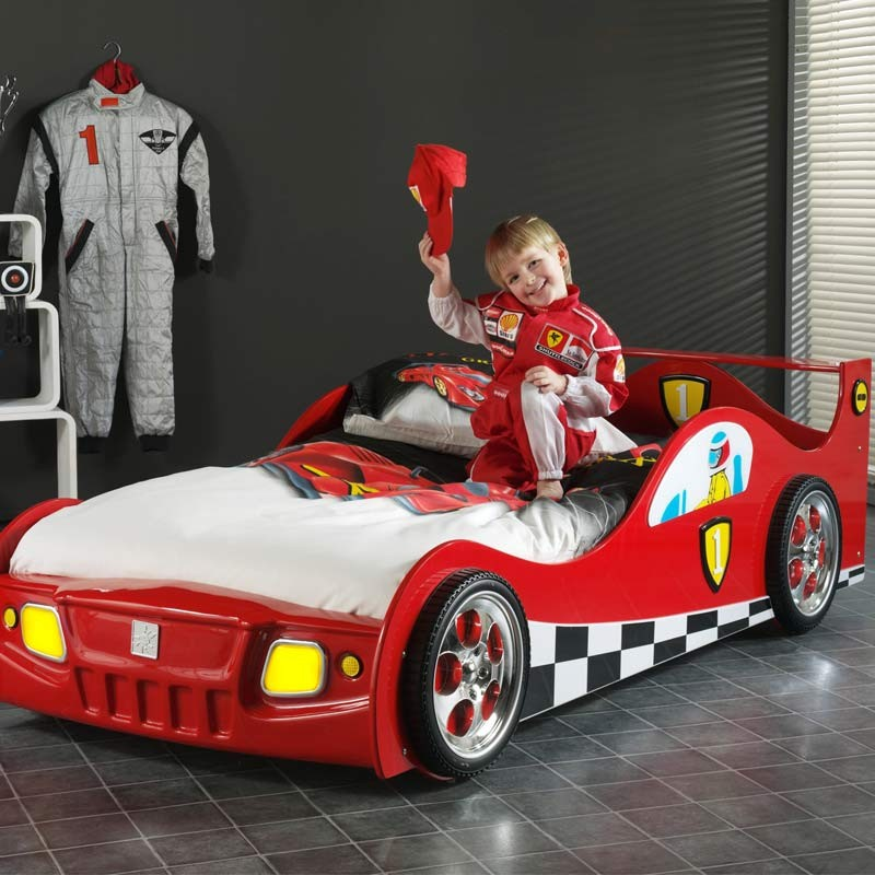 lit enfant voiture monza rouge. Black Bedroom Furniture Sets. Home Design Ideas