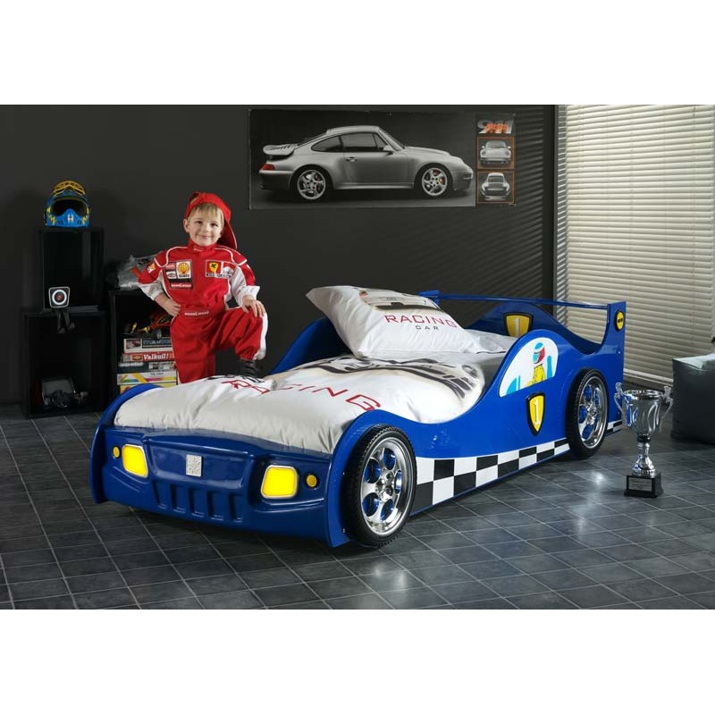 lit enfant voiture monza bleu. Black Bedroom Furniture Sets. Home Design Ideas