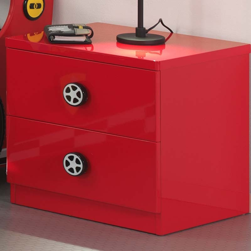 table de chevet enfant voiture monza rouge. Black Bedroom Furniture Sets. Home Design Ideas