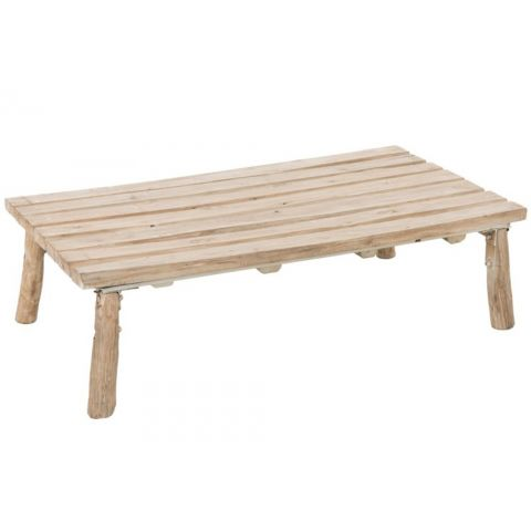 "Table Basse en Chêne ""Picnic"" 119cm Naturel"