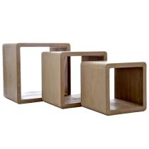 "Lot de 3 Tables d'Appoint Gigognes ""Eliott"" 58cm Naturel"