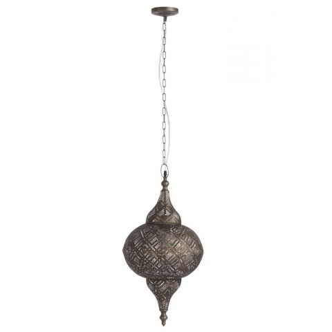 "Lampe Suspension en Métal ""Diaby"" 25cm Marron"