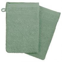 "Lot de 2 Gants de Toilette ""Confort"" 15x21cm Celadon"