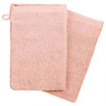 "Lot de 2 Gants de Toilette ""Confort"" 15x21cm Rose"