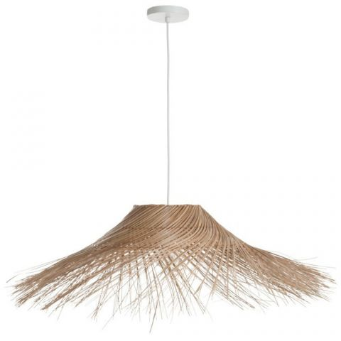 "Lampe Suspension en Osier ""Coco"" 90cm Naturel"