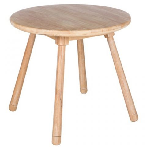 "Table d'Appoint Design Enfant ""Béa"" 60cm Naturel"