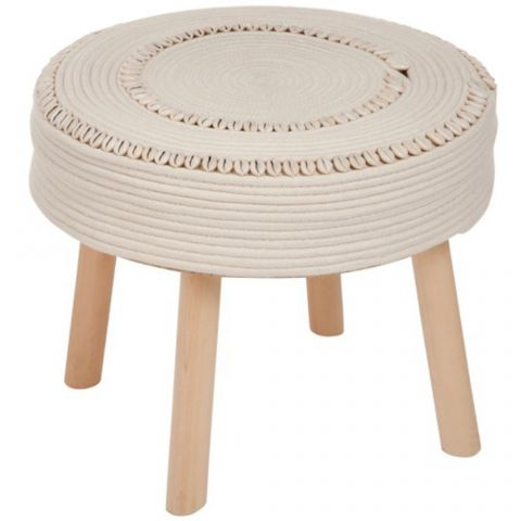 "Table d'Appoint Crochet ""Diane"" 45cm Beige"