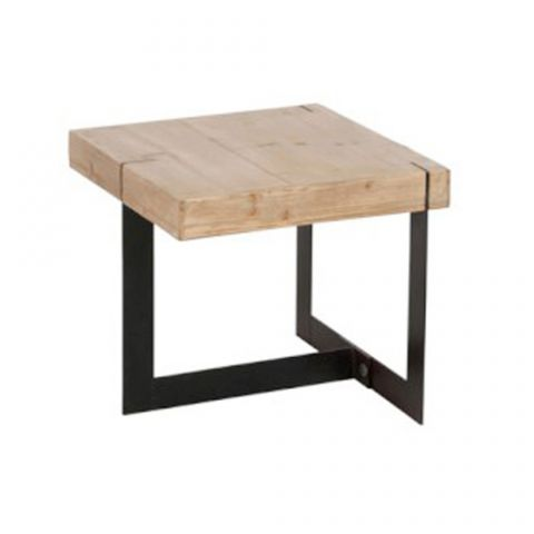 "Table d'Appoint Design ""Teca"" 50cm Naturel"