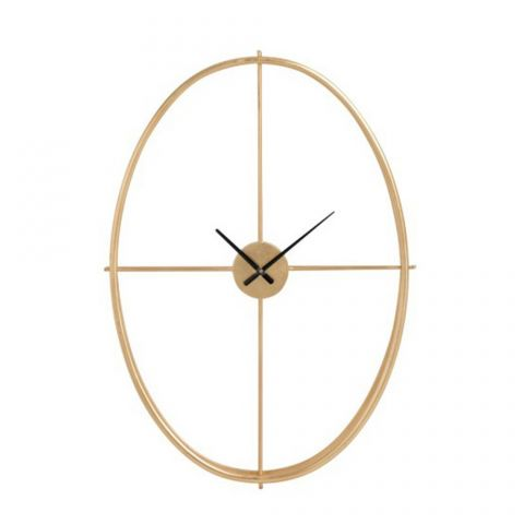 "Horloge Murale Design Ovale ""Catalia"" 90cm Or"
