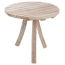 "Table d'Appoint 3 Pieds ""Eléa"" 75cm Naturel"