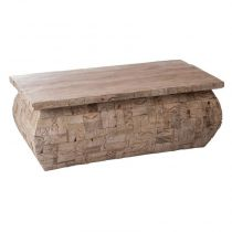 "Table Basse Vintage en Bois ""Arsher"" 65cm Naturel"