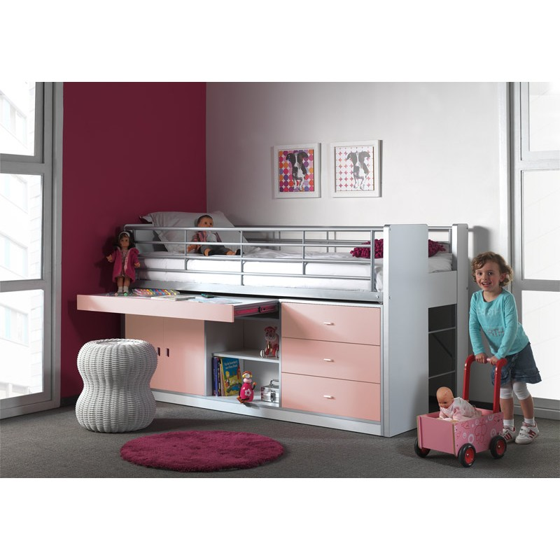 lit combin enfant bonny rose. Black Bedroom Furniture Sets. Home Design Ideas