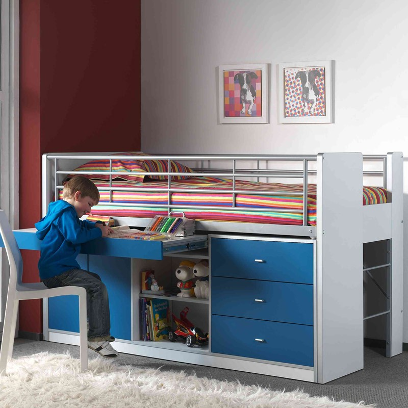 lit combin enfant bonny bleu. Black Bedroom Furniture Sets. Home Design Ideas