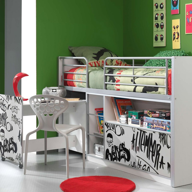 lit compact enfant bonny grafiti. Black Bedroom Furniture Sets. Home Design Ideas