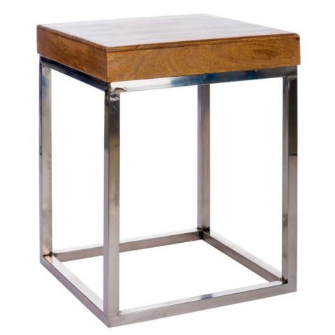"Table d'Appoint Design ""Welder"" 60cm Naturel"