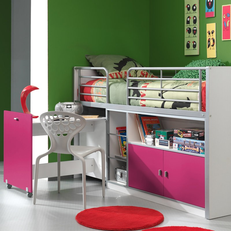 lit compact enfant bonny fuchsia. Black Bedroom Furniture Sets. Home Design Ideas