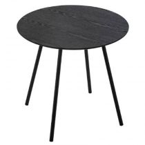 "Table à Café Contemporaine ""Mileo"" 45cm Noir"