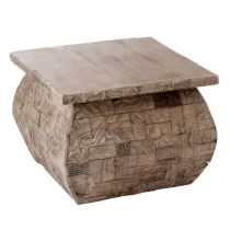 "Table d'Appoint Carrée ""Mayan"" 60cm Naturel"
