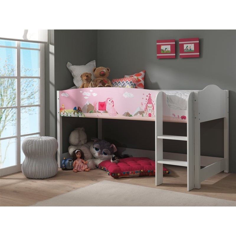 mezzanine enfant lollipop princesse rose. Black Bedroom Furniture Sets. Home Design Ideas
