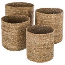 "Lot de 4 Paniers de Rangement ""Seagrass"" Naturel"
